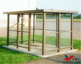 XY5钢结构吸烟亭移动式吸烟岗亭吸烟亭定做