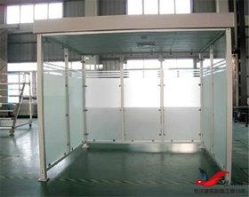 XY4钢结构吸烟亭移动式吸烟亭