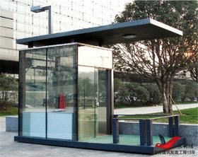 BL08钢结构玻璃岗亭保安岗亭治安岗亭