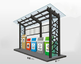 LJF小区垃圾房厂家-小区垃圾房定制户外垃圾处理房